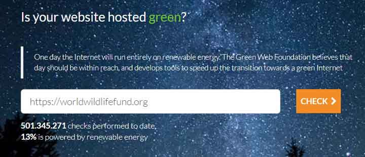 The Green web foundation's homepage